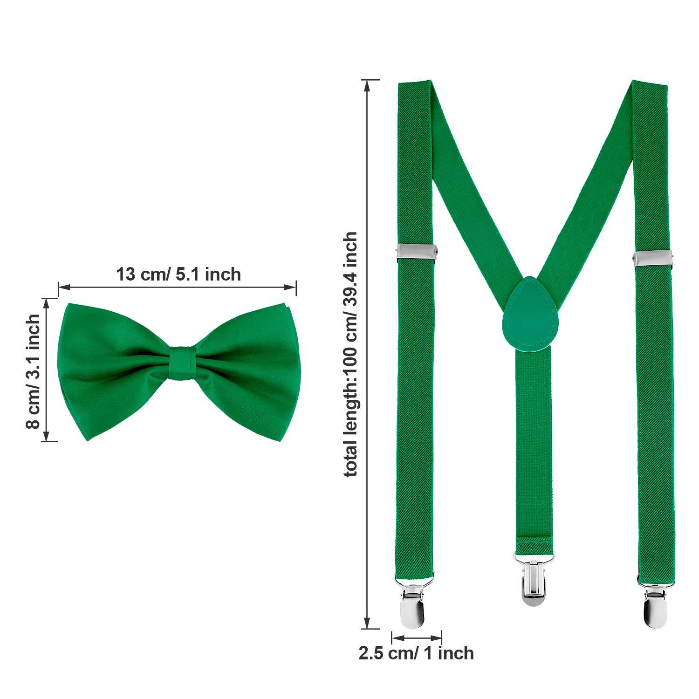 Suspender Bow Tie Set Clip On Y Shape Adjustable Braces Pant Suspenders Shoulder Straps for Cosplay Party