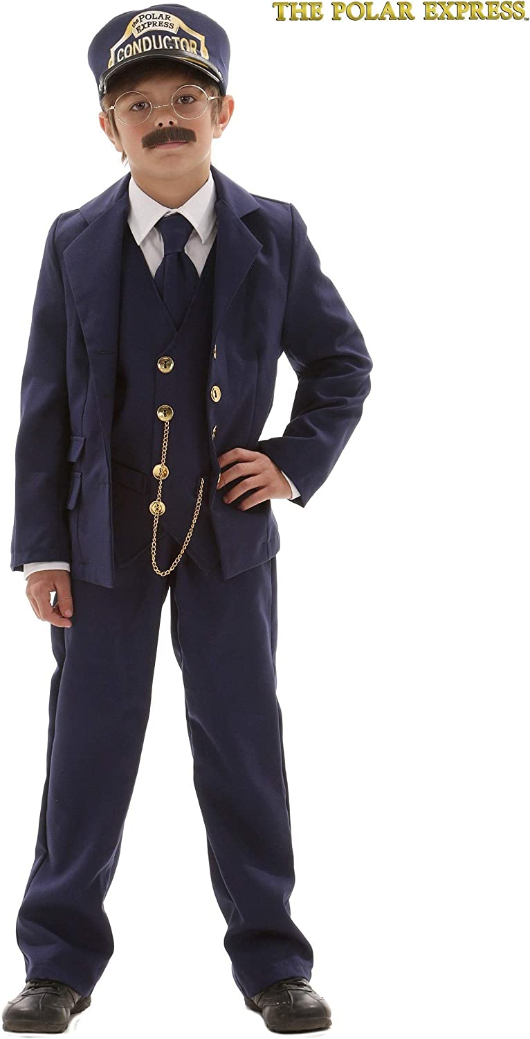 Amazon.com: Niño Polar Express Conductor, S, Azul: Clothing