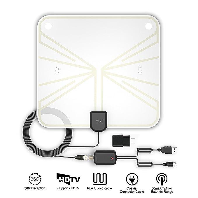 ... desmontable amplificador amplificador de señal y 16,5 m de alto rendimiento Cable Coaxial - muy alto recepción para interiores: Amazon.es: Electrónica