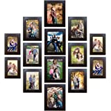 Trends on Wall Memory Wall Photo Frame Set Classic set of 14 Individual Photo Frames 4 no. of 4 inch x 6 inch photo frames::6 no. of 5 inch x 7 inch photo frames::4 no. of 6 inch x 8 inch photo frames