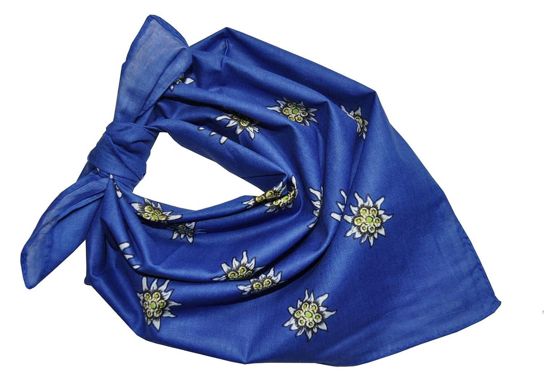 Alpin-Trachten Trachtentuch Halstuch Edelweiss Baumwolle AT-21