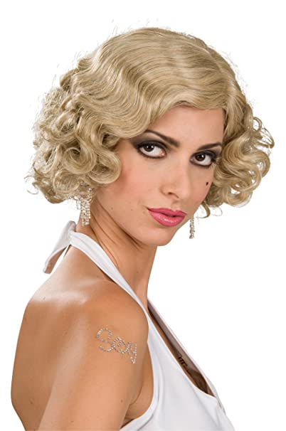 Amazon Com Rubie S Roaring 20s Mixed Blond Flapper Wig Yellow One