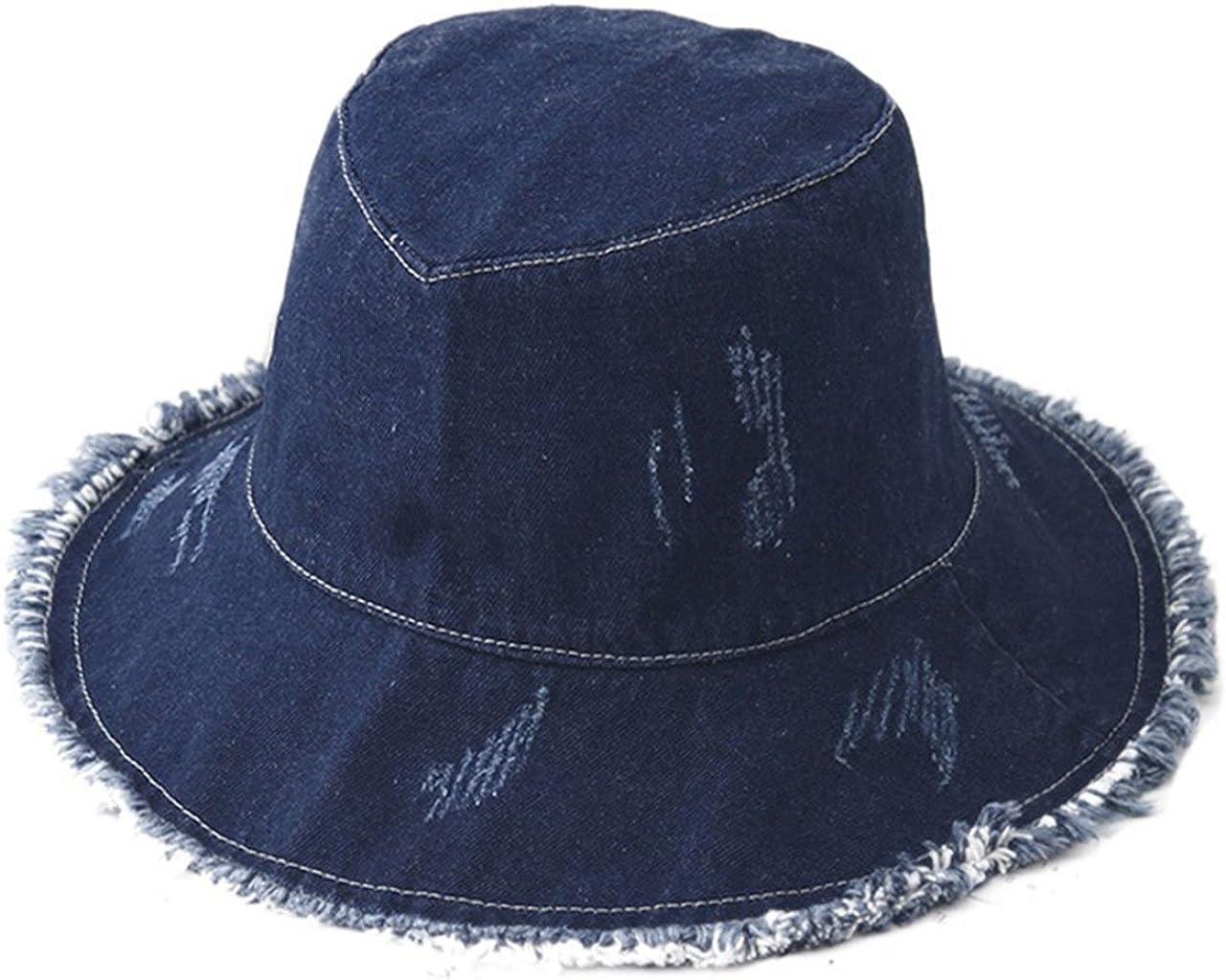 Washed Denim Bucket Hat...