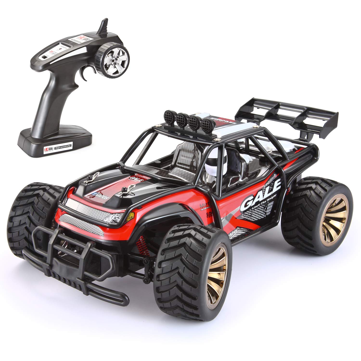 RC Car,Vatos Remote Control Car Electric Racing Car Off Road 1:16 Scale Desert Buggy Vehicle 2.4GHz 50M 2WD High Speed Electric Race Monster Truck Hobby Rock Electric Buggy Crawler Best Toy Car