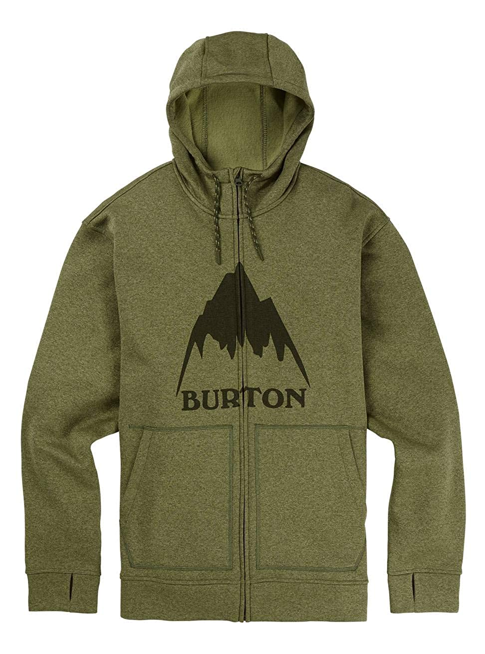 TALLA M. Burton Oak Full Zip Hoodie, Hombre, 16224106301, Clover Heather, Medium