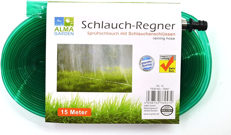Manguera 15 metros | – Spray de manguera | – Aspersor | – Aspersor de riego manguera: Amazon.es: Jardín