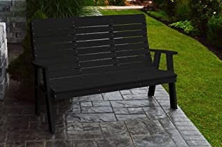 product image for Outdoor Winston Garden Bench - 5 Feet - Black Poly Lumber