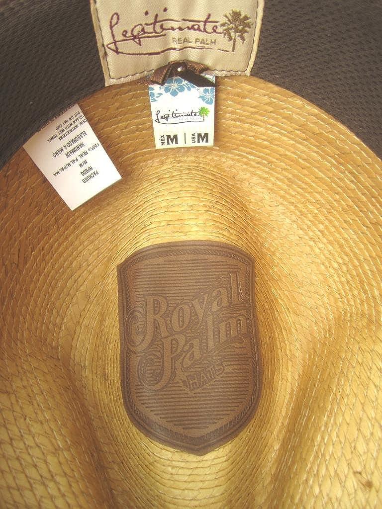 fb6b355d9a9099 Amazon.com: Royal Palm 100% Palm Fiber Low Profile Fedora Beach Golf Summer  Hat: Clothing