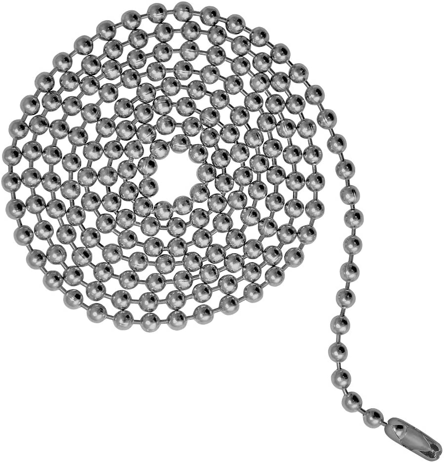 Ball Chain #3 Connectors Stainless Steel 50 Count