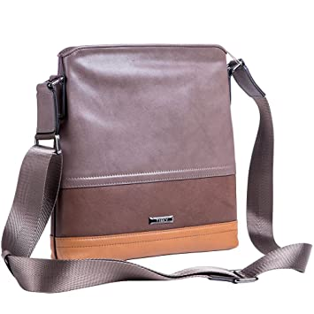 Image Unavailable. Image not available for. Color  TIDIV Simple Style Men s  Genuine Cowhide Leather Business Crossbody Bag ... 65b1f2c5cd