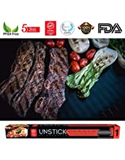 UNSTICK BBQ Grill Mat - Reusable Heavy Duty Grill Mats Non Stick - 100% PFOA-Free Premium Japanese Barbecue Grilling Sheet For Outdoor or Indoor Grills
