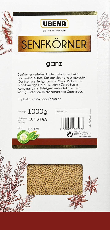 Ubena Mustard seeds whole 1000g