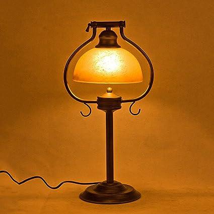 GJ- El Hierro Lámpara de Mesa Retro Europea Dormitorio ...