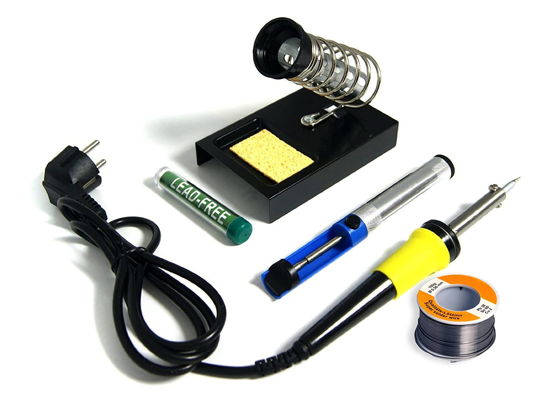 Grovendo alta calidad de soldadura completo de soldadura con soldador, soporte, desoldador (desoldar Aspiradora de Bomba), lötzin en dispensador y extra ...