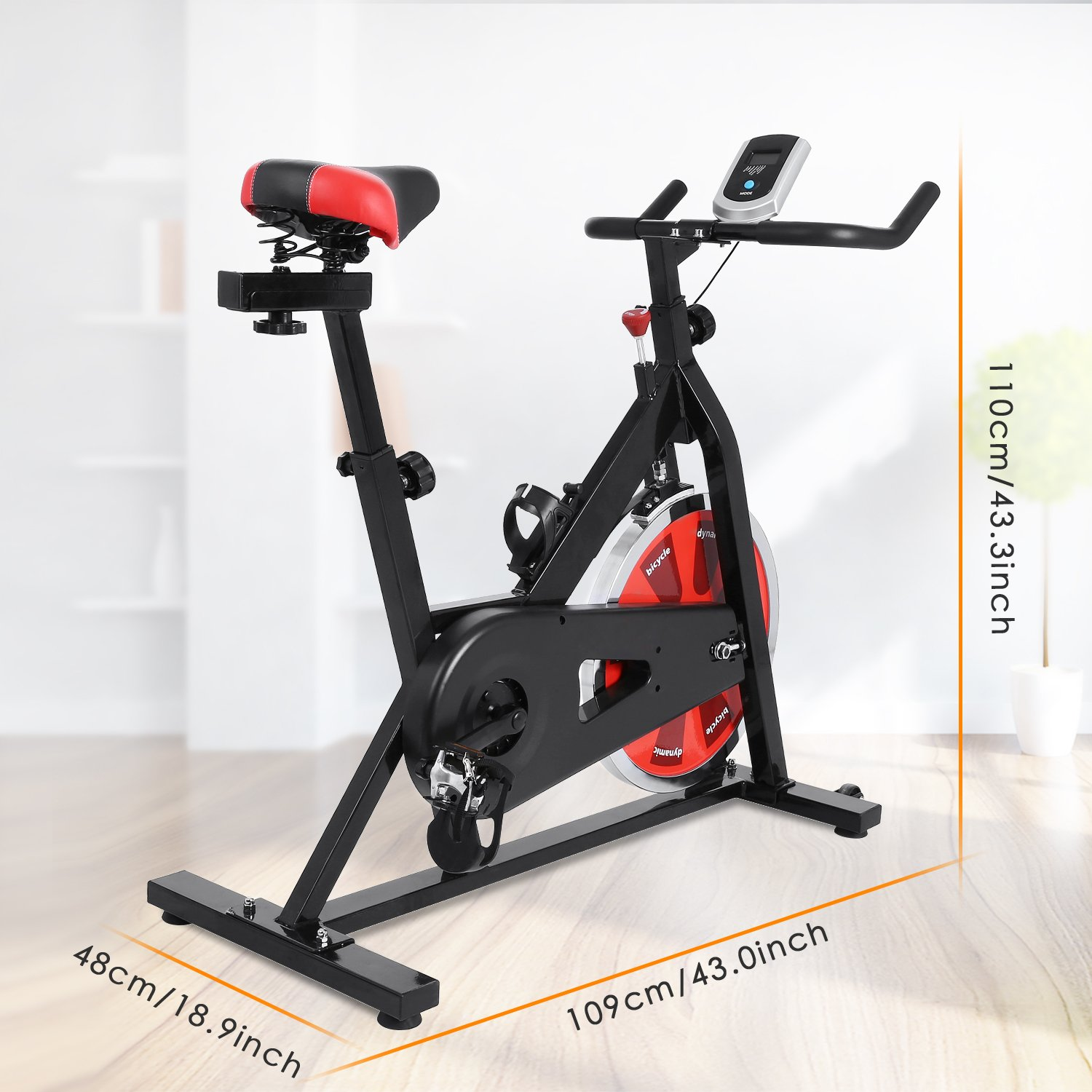 ANCHEER Stationary Bike, Indoor Cycling Exercise Bike 40 LBS Flywheel (Black_NO Pulse) by ANCHEER (Image #6)