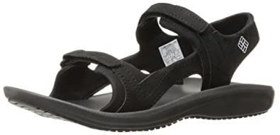 Columbia Women's Barraca Sunlight Athletic Sandal, Black/White, ...