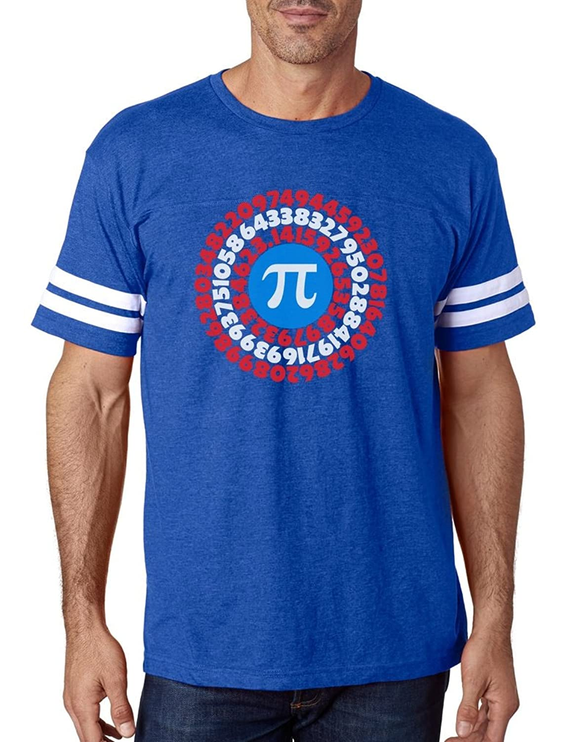 Pi Day Superhero - Captain Pi Gift For Math Geeks Football Jersey T-Shirt