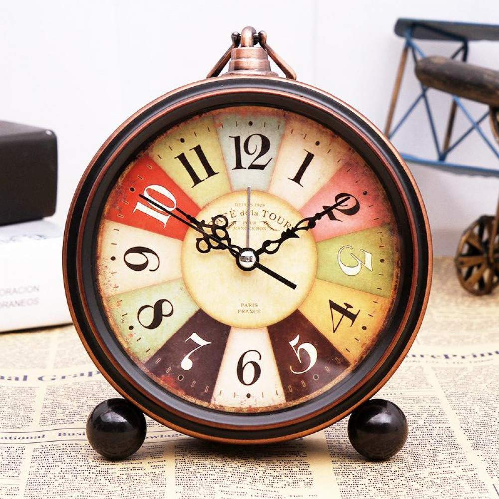 Despertador Vintage no Ticking de Noche Antigua, Reloj de ...