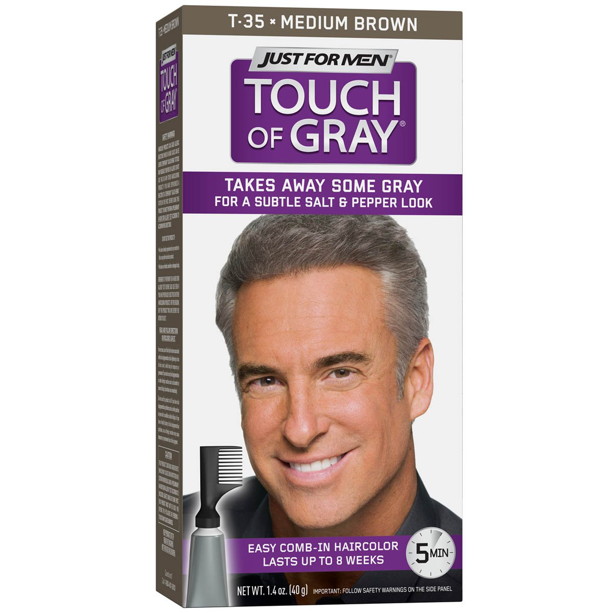 Just For Men Touch of Gray Men's Hair Color, Medium Brown