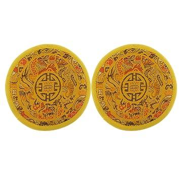 D DOLITY Portavasos Cojín para Tazón de Fuente Tibetano de Yoga Relajante Hecho a Mano de Paño Nepal Portavaso Decorativo: Amazon.es: Instrumentos musicales