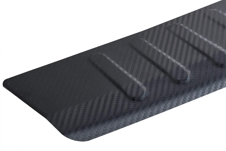 Fahrzeugspezifischer Ladekantenschutz Carbon Look mit Abkantung Metall