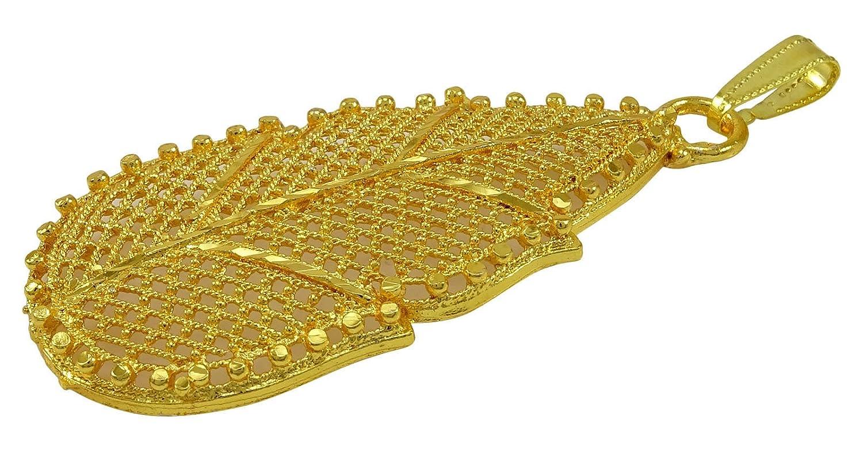 Matra 18k goldplated traditionnelle cha/îne de concepteur de bollywood pendentif femme bijoux