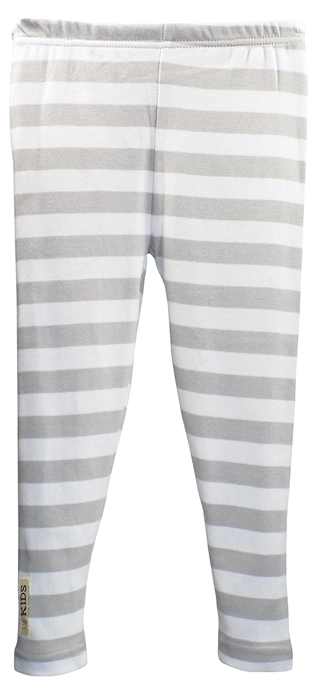 443f8cd0bf Amazon.com: L'ovedbaby L'bKIDS Unisex Toddler - Kids Organic Cotton Leggings  (3T, Light Gray/White Stripe): Clothing