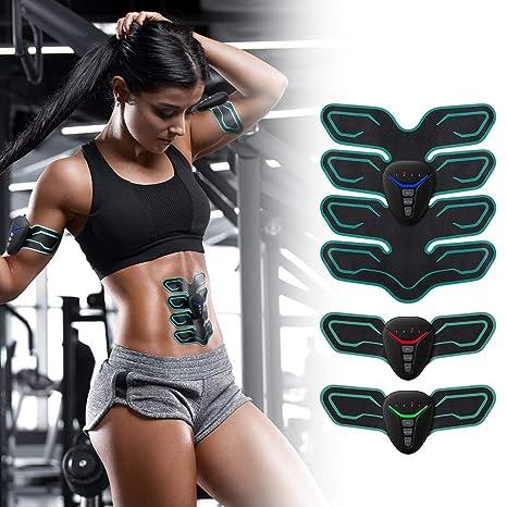 Portatile ABS Stimu EMS Muscolare A-TION Cinture Addominali Elettrostimolatore