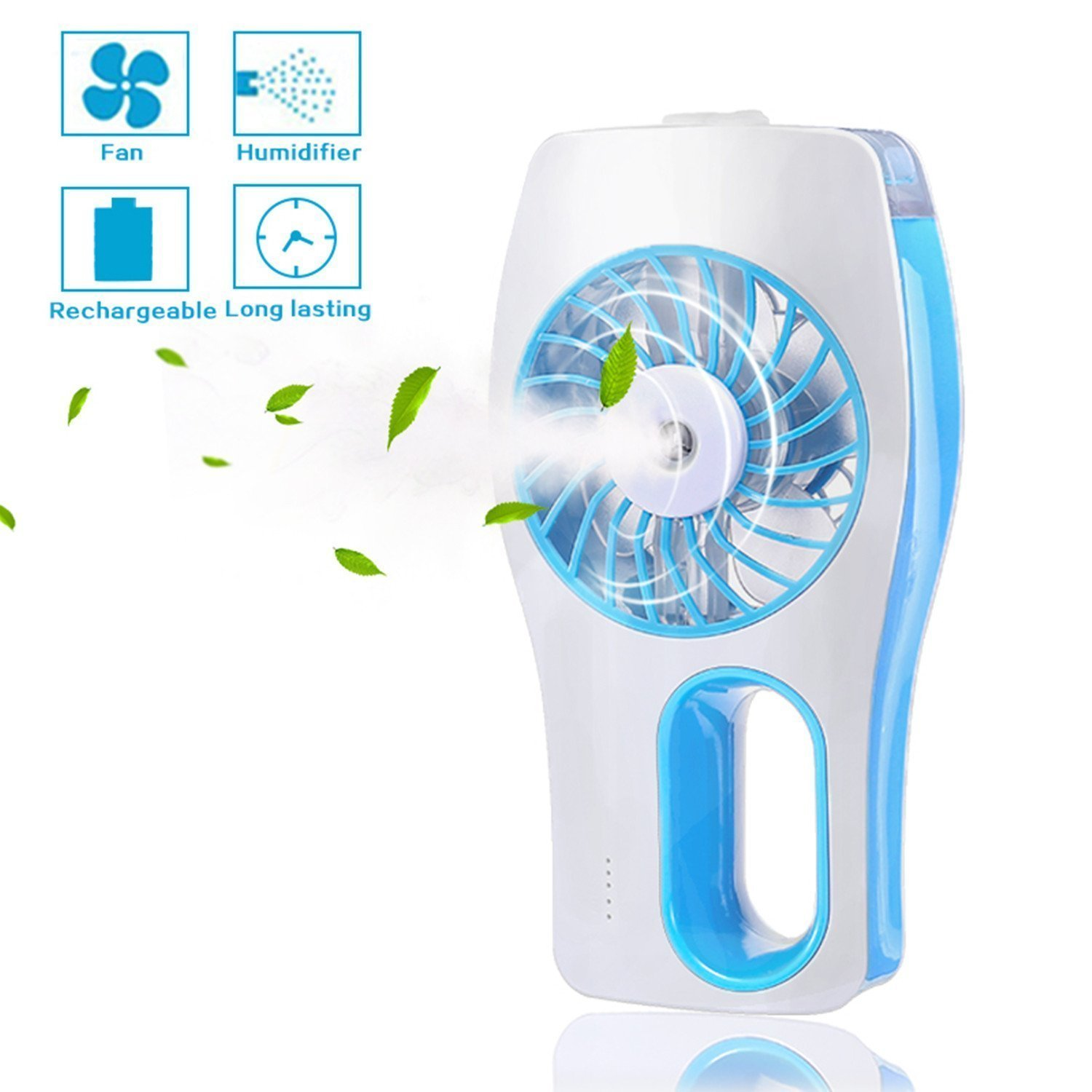 Misting Mini USB Handheld Fan,Humidifier Mist Water Spray Air Condictioning Moisturizing Fan Portable Face Spray Mist Humidifier Built-in with Rechargeable Battery for Beauty,Home, Office, Travel
