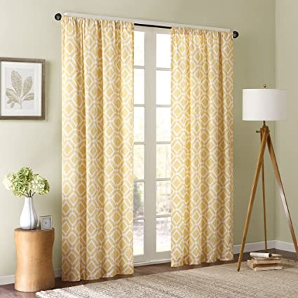 amazon com yellow curtains for living room modern contemporary rh amazon com Gold Curtains for Living Room White Curtains for Living Room