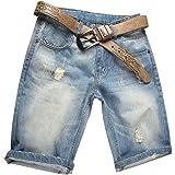 Valuker Denim Bermuda Jeans - Short - Homme