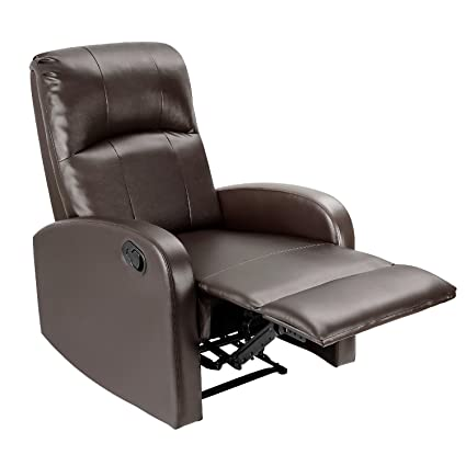 Amazon.com: JUMMICO Adjustable Recliner Chair PU Leather Home ...