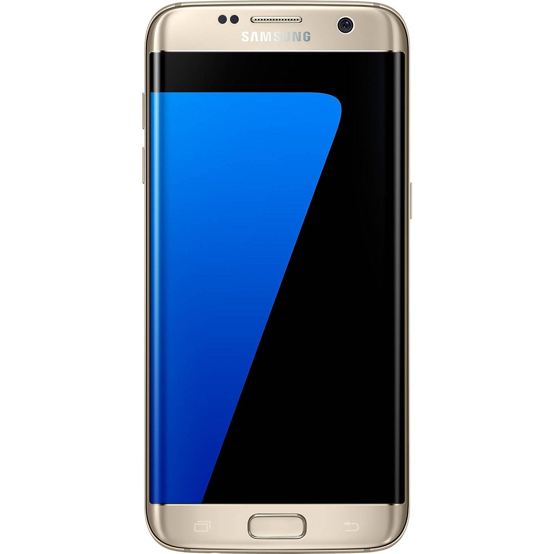 Samsung Galaxy S7 EDGE G935v 32GB Verizon Wireless CDMA 4G LTE Smartphone  w/ 12MP Camera - Platinum Gold (Renewed)