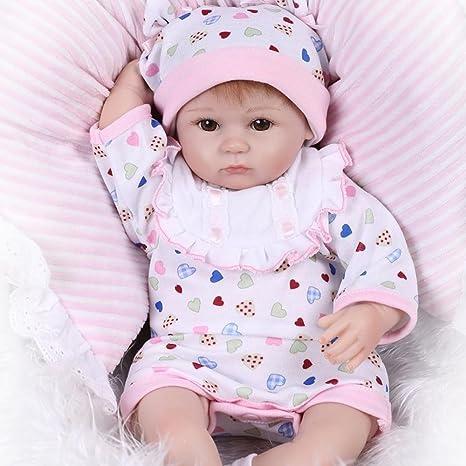 Amazon.com: Decdeal Reborn Baby Doll Girl Baby Bath Toy Silicone ...