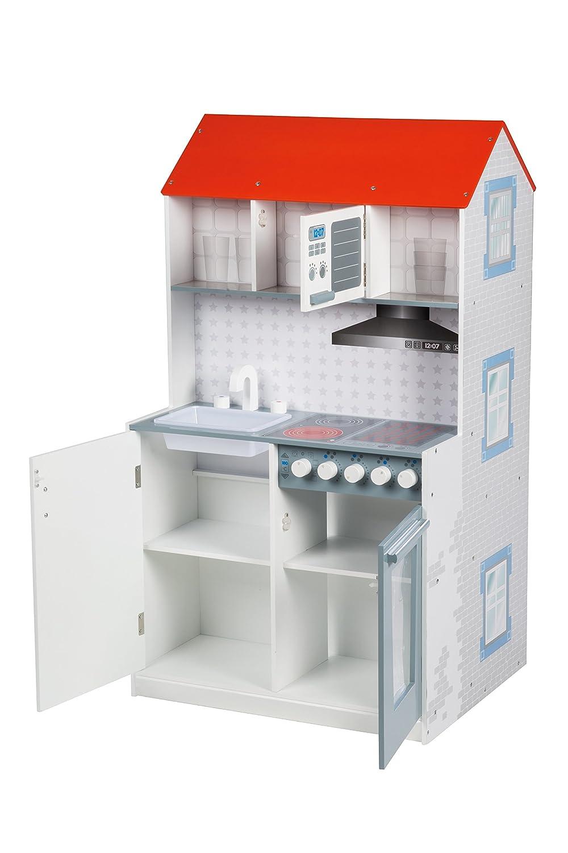Casa tematica roba 2 en 1, casa de juegos tematica reversible y cocina para niños, casa de juegos grande y cocina de juegos todo en uno: Amazon.es: Bebé