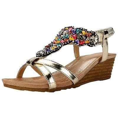Alexis Leroy Chaussures Bohémien Style Sandales Bout Ouvert Femme