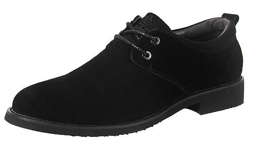 iLoveSIA Zapatos de Gamuza de Oxford de Hombre Negro Nuevo Gamuza Oxford 49  EU  Amazon.es  Zapatos y complementos 32254f72dc67