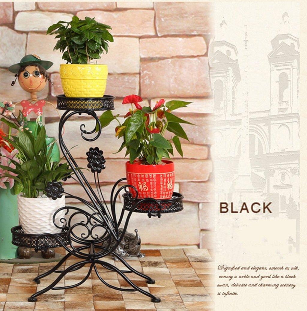 più economico Cornice Cornice Cornice floreale   Stand per piante all'aperto   3 Tiers Flower Racks-Mensola in ferro stile europeo in metallo per vaso da fiori Pianta stabile Stand supporto in modo fermo Scaffale da giardino per b  negozio online