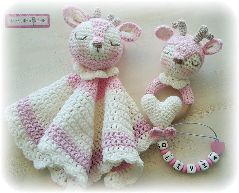 DOU DOU, Mantita de Apego a Crochet: Amazon.es: Handmade
