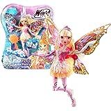 Winx Club - Tynix Fairy - Stella Poupée 28cm avec magique Robe