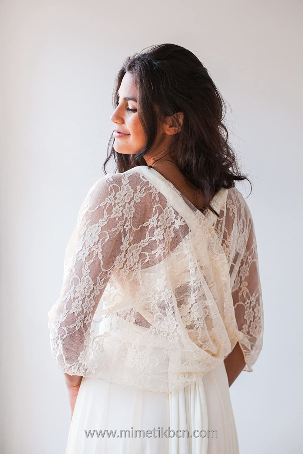 Amazon.com: Wedding shawl, wedding lace shawl, wedding cover up, lace cover up, lace wedding shawl, lace bolero, bridal shawl, lace cover up, ...