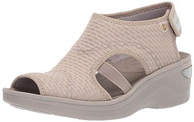 14e07934ec Amazon.com | BZees Women's Dream Sandal, Beige Sheer Fishnet, 6 W US ...