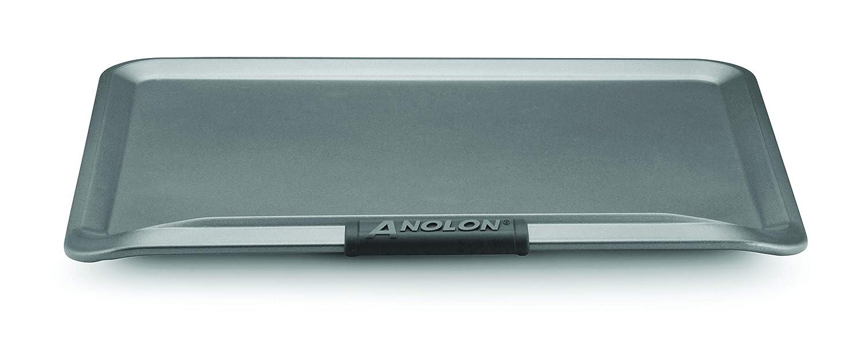 """Anolon 54717 14"""" x 16"""" Cookie Steel Baking Sheet, Gray"""