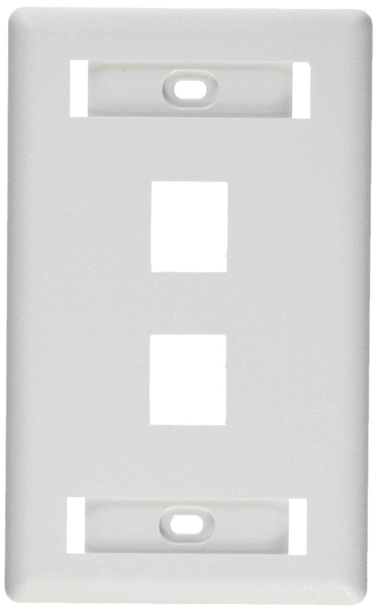 Hubbell IFP12W Flush Phone/Data/Multimedia Wall Plate, 1 Gang, 2 Port, White (Pack of 25)