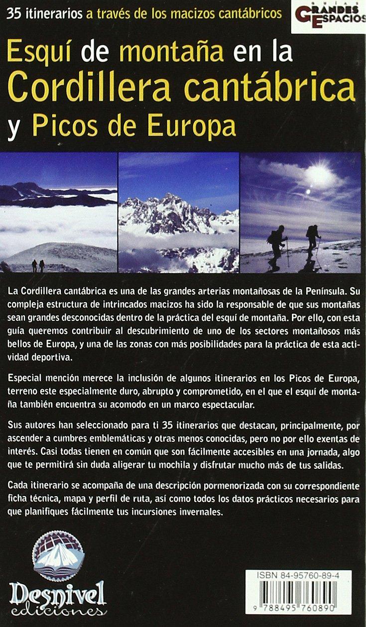 Esqui de montaña en la cordillera cantabrica y picos de ...