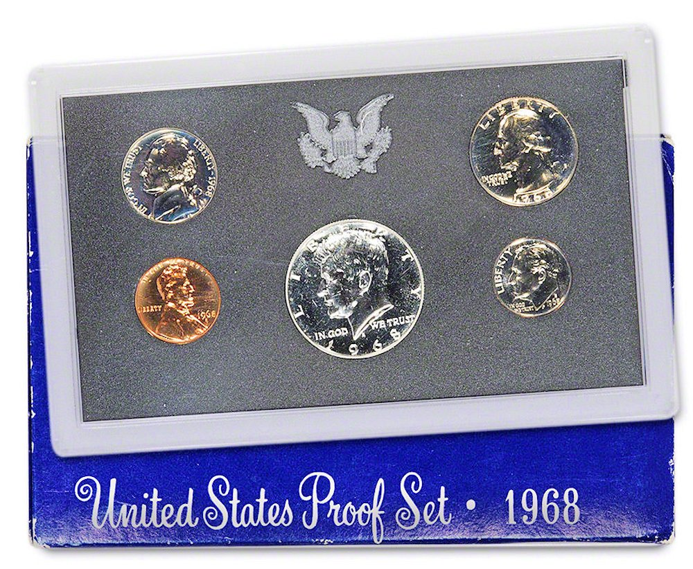 1990 S 5 Coin Proof Set Original Government Packaging W//COA