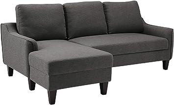 Signature Design By Ashley Jarreau Contemporary Upholstered Sofa Chaise Sleeper Gray Furniture Decor