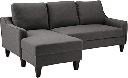 Signature Design By Ashley Jarreau Contemporary Upholstered Sofa Chaise Sleeper Gray Furniture Decor Amazon Com