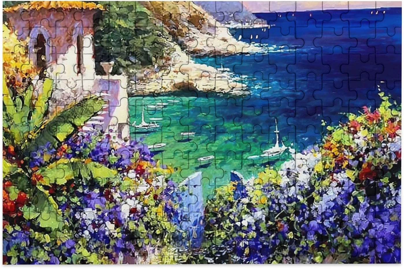 Glorious Garden Provence Landscape Jigsaw Mini Puzzles 150 Pieces Jigsaw Puzzles Wood Family Fun Puzzle Game Gift For Adults Kids