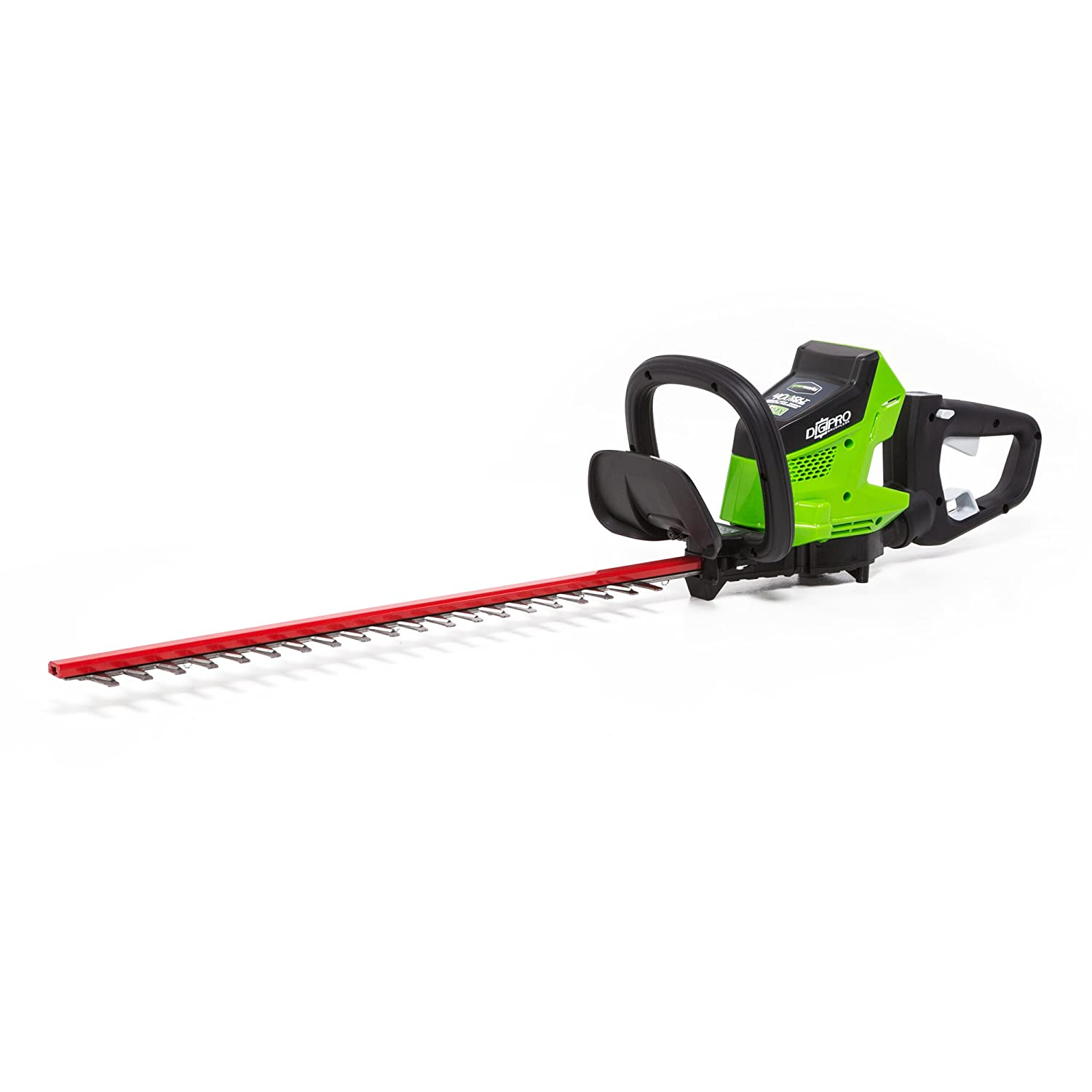 Greenworks HT40L00 Brushless Cordless Hedge Trimmer, 24 Battery Not Included, Black Green